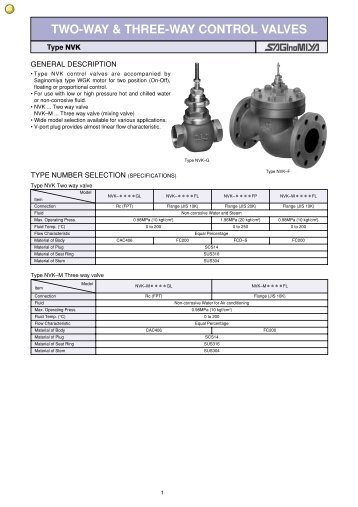 TWO-WAY & THREE-WAY CONTROL VALVES - Ecotherm
