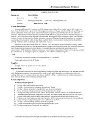 Architectural Design Syllabus - Mr. Behling's Web