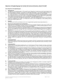 Allgemeine Geschäftsbedingungen der ComSol AG Commercial ...