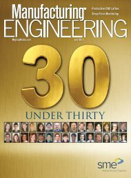 UNDER THIRTY - Society of Manufacturing Engineers