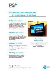 signalisation dynamique et diffusion de vidéos - Centre des congrès ...