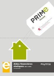 Dépliant aides financières PRIMe House - 2012 - myenergy