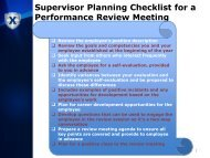 Supervisor Planning Checklist for a Performance Review Meeting