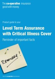 Level Term Assurance with Critical Illness Cover - The Co-operative ...