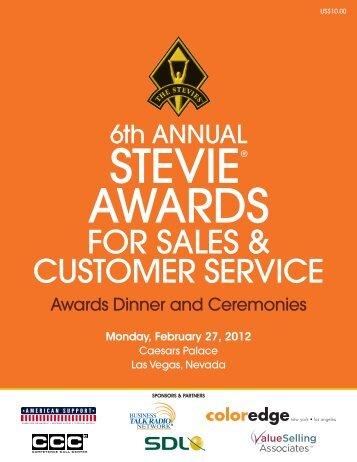 2020-SASCS10 Awards Program - the Stevie Awards