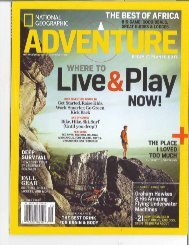 National Geographic Adventure, Oct. 2009 - Sleeping Lady