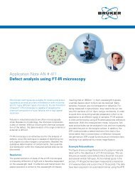 Defect analysis using FT-IR microscopy - Bruker