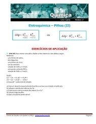 Eletroquímica – Pilhas (II) - Portal de Estudos em Química