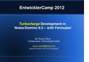 Formula - EntwicklerCamp