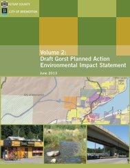 Volume 2: Draft Gorst Planned Action Environmental Impact Statement