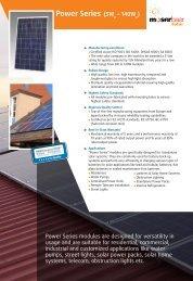 Power Series (5W – 140W - Moser Baer Solar Limited