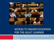 Access to Higher Education for the Adult Learner - Women in ...