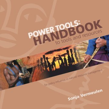 Power Tools - UNDP-UNEP Poverty-Environment Initiative