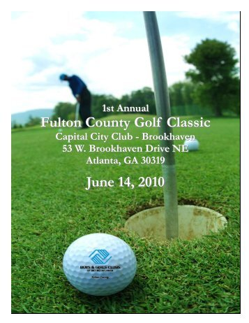 2010 Fulton Golf Brochure - Boys & Girls Clubs of Metro Atlanta