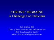 chronic migraine - Department of Pain Medicine and Palliative Care