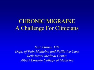chronic migraine - Department of Pain Medicine and Palliative Care