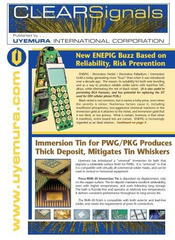 Uyemura PCB Newsletter - Immersion Tin, Immersion Gold ...