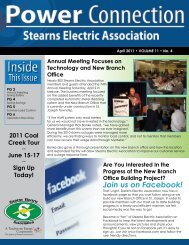 Join us on Facebook! - Stearns Electric Association