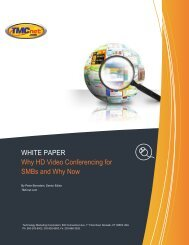 WHITE PAPER Why HD Video Conferencing for SMBs ... - Panasonic