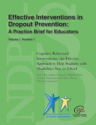 Cognitive behavioral interventions - National Dropout Prevention ...