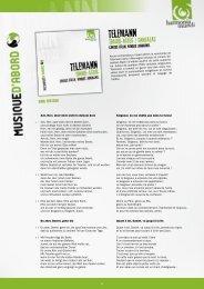 Cantus Cölln, Konrad JunghA nel - Harmonia Mundi