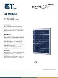 ET Solar PV Module - ET-M54050
