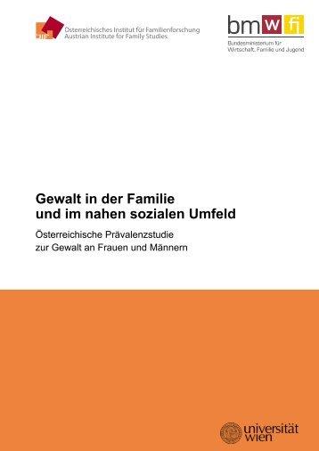 Gewalt in der Familie und im nahen sozialen Umfeld