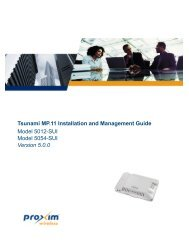 Tsunami MP.11 Installation and Management Guide Model 5012 ...