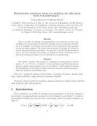 Estimation minimax dans un modèle de mélange semi-paramétrique