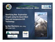 Identifying New Exploration Targets using the ... - Geoscience BC