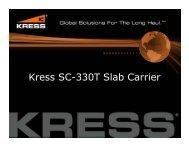 Kress SC-330T Slab Carrier - Stetter Machinery