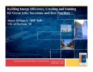 Building Energy Efficiency, Creating and Training for Green Jobs ...