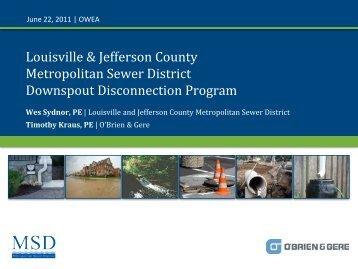 Downspout Disconnection Program