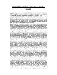ESTATUTO DE CONFEDERACIÓN FARMACEUTICA ARGENTINA ...