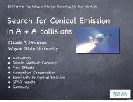 Search for conical emission with three particle correlations