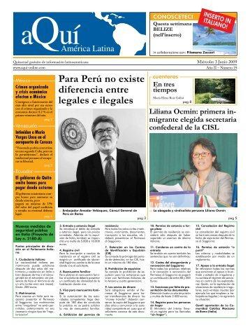 Para Perú no existe diferencia entre legales e ... - Aqui-online.com