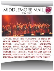 Middlemore Newsletter Term 2 2013 - King's College