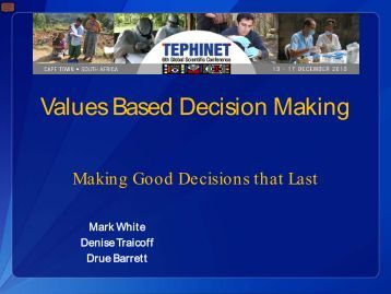 values based decision making Using values-based decision making (vbdm), chaplains can effectively guide  families in making sound healthcare decisions that are shaped both by scientific .