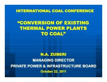 conversion of existing thermal power plants to coal - Sindh Board Of ...