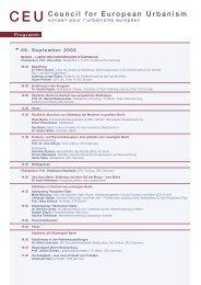 offizielles Programm des CEU Kongress - Council for European ...