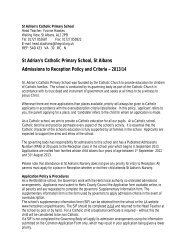 St Adrian's Catholic Primary School, St Albans Admissions to ...
