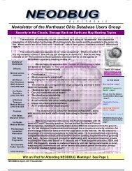 May, 2011 Newsletter - neodbug