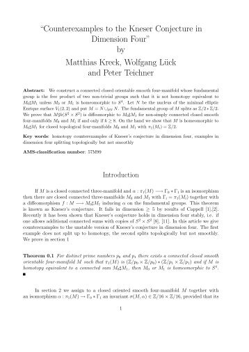 """""""Counterexamples to the Kneser Conjecture in Dimension Four"""" by ..."""