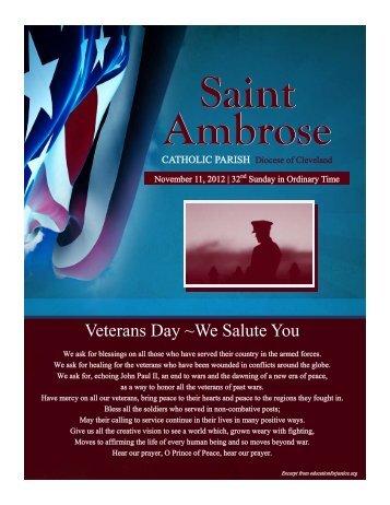 November 11, 2012 - Saint Ambrose Parish
