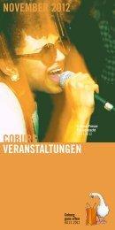 coburg veranstaltungen november 2012 - Stadt Coburg