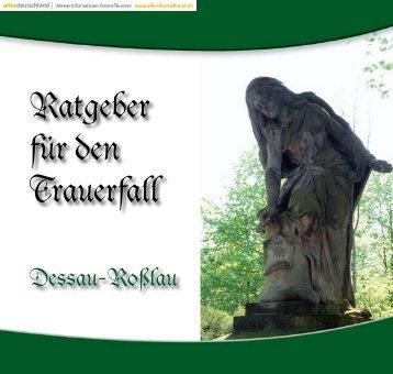 Ratgeber für den Trauerfall - Dessau-Ro