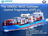 The UNODC-WCO Container Control Programme (CCP) - Inece