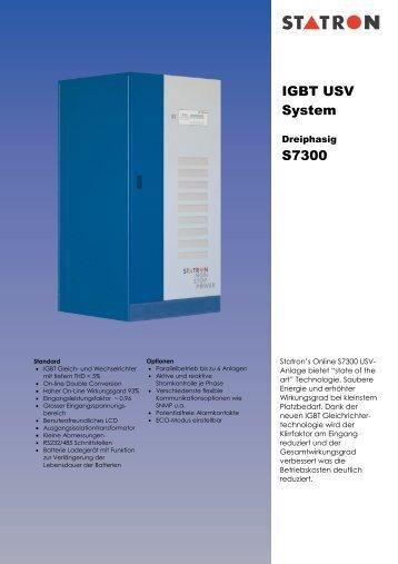 IGBT USV System S7300 - Statron