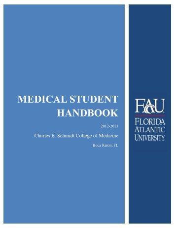 Medical student handbook - College of Medicine - Florida Atlantic ...