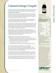 Calamari Omega-3 Liquid Product Detail Sheet - Standard Process